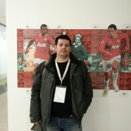 Yiannis at the Old Trafford